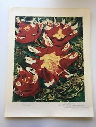 Signed David Alfonso Siqueiros Tierra Roja Red Earth The Mexican Suite 1968