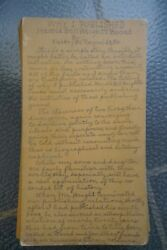 Why I Published Harold Bell Wright's books Orig Manuscript