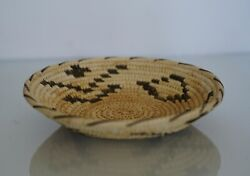Vintage Handwoven Basket Native American African Hand Crafted 7 1/2