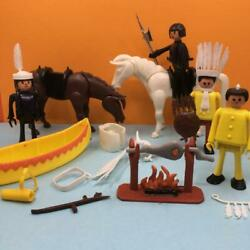 Rare Vintage Mettoy Playcraft Busybodies Western Toy Figures Horses Set 1970s