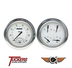1954 55 Chevy Gmc 3100 Truck White Hot Gauges Tach Classic Instruments Ct54wh62