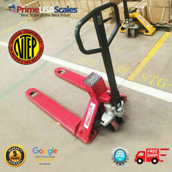 Op-918-5000 Ntep Pallet Jack Scale 5,000 Lb With Printer Legal For Trade