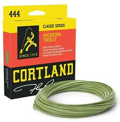 Cortland 444 Modern Trout Moss Green Fly Line - All Sizes - Free Fast Shipping