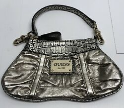 GUESS Metallic Silver Clutch Handbag $14.90
