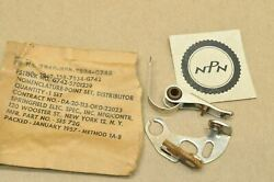 Vtg Nos G742 M35 Army Truck Springfield Distributor Ignition Contact Point Set