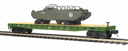 Mth Premier Trains 20-95400 Us Army Flat Car With Gmc Dukw 353 O Scale
