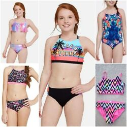 NWT JUSTICE Girls 2 Piece Swimsuit Sets SELECT SIZE & MODEL