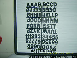 Coca-cola Menu Board Rare Big And Bold 1 1/2 Letters And Numbers Set