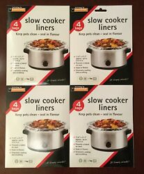 16 Toastabags Crock Pot Slow Cooker Liners Bags 11.8andrdquo X 21.7andrdquo Up To 215 Fl Oz