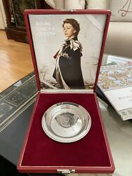 Sterling Silver Royal Lineage Britians Kings And Queens First Edition Dish Plate