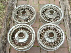 15x5 Chrome Knock-off Wire Wheels--kelsey Hayes/dayton Style Splinequantity 4