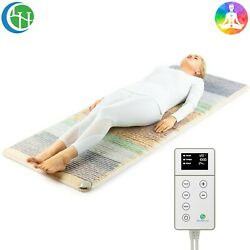 Heating Pad Reiki Chakra Mat Crystal Pemf Infrared Therapy Healthyline 74 X 28