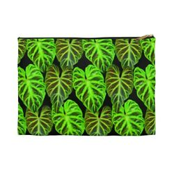Philodendron Verrucosum plant leaves Accessory Pouch Cosmetic bag $15.00