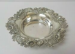 Sterling Silver 7 Bowl / Bottle Coaster 3005 Black Starr And Frost Ny C. 1890