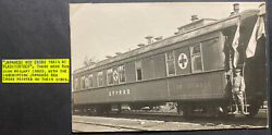 Mint Japanese Army Siberian Expedition Rppc Postcard Red Cross Train