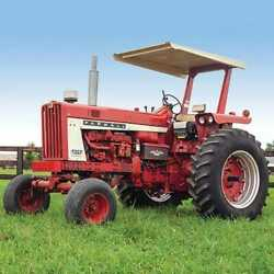 Tractor Canopy And Certified Rops - Metal Square Axle Compatible With