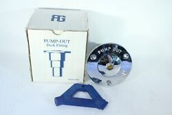 Pump Out Deck Fitting 38mm 1.1/2 Chrome Plated Made In Italy New