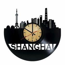 Welcome Dzen Store Shanghai Record Wall Clock - Get Unique of Living Room Wall D