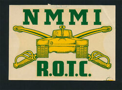 New Mexico Military Institute _rare_ Orig 1940's Rotc Decal Vtg Nmmi R.o.t.c