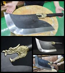 """28.7"""" Authentic Hand Forged Longquan Kitchen Knife Kitchen Knife Manganese Steel"""