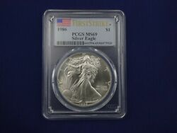 1986 1 Silver Eagle Pcgs Ms69 First Strike Rare And High Quality