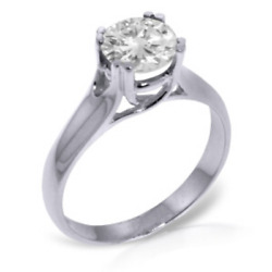 14k Solid White Gold Just Remember Diamond Ring Engagement Wedding Anniversary