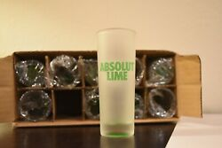 Absolut Lime Shot Glasses Frosted Glass Vodka 10 Shooter Shot Glass - Case Of 10