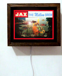 Jax Beer Mellow Brew New Orleans Brewery Bar Light Lighted Sign No Motion