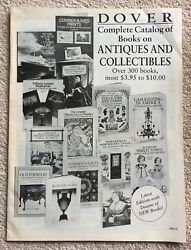 Dover Complete Catalog Of Books On Antiques And Collectibles Circa 1991