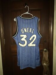 Mens Mitchell And Ness Sz 48 Shaquille O'neal Magic Nba Basketball Jersey Sewn