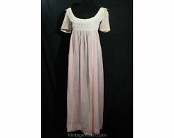 Size 2 Authentic Regency Dress - Pink Polka Dot Empire Gown - 1800s Pride And Pr