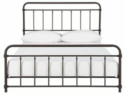 Queen Bed Frame Antique Iron Rustic Country Vintage Headboard Footboard Bedroom