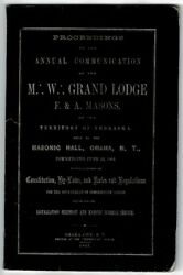 Proceedings Of The Annual Communication Of The M W Grand Lodge F And Masons