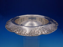 Lap Over Edge Acid Etched By Sterling Silver Floral Fruit Bowl 4602