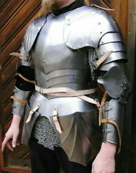 16ga Sca Steel Medieval Half Body Lady Armor Suit With Cuirass And Puldrons Set