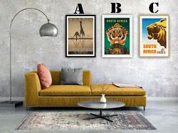 South Africa Vintage Advertising Art Print Posters. Choice Of 3 Great Prints