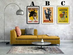 Mexico Travel Vintage Advertising Art Print Poster Set Choice Of 3 Great Prints