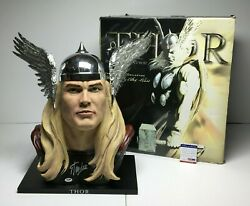 Stan Lee Signed Marvel 11 Scale Alex Ross Upperdeck Entertainment Thor Bust Psa