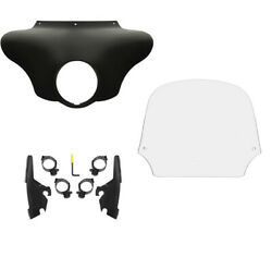 Memphis Shades Batwing Fairing 12 Clear Windshield Mount Harley 18+ Sport Glide