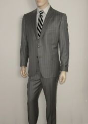 1699 Brooks Brothers Suit In Grey Jacket 46r Pants W40xl32 Wool Made In Italy