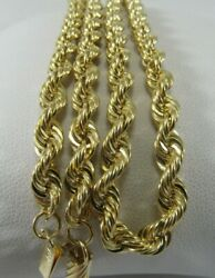Solid 14k Gold Heavy Diamond Cut Rope Necklace 20x 4mm Save 3000 1465