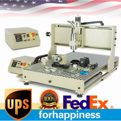 4 Axis Engraver 6090 Cnc Router 3d Cutter Mill Carving Machine 1500w Vfd Usb