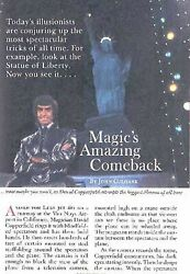 Magic's Comeback 1983 Feature David Copperfield Siegfried And Roy Doug Henning