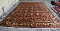 9and03911 X 16and0392 Handmade Afghan Tribal High Quality Turkmen Palace Size Area Rug