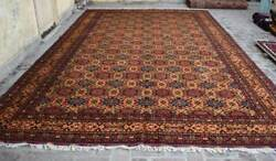 10 X 15and0399 Handmade Afghan Tribal High Quality Turkmen Wool Palace Size Area Rug