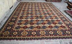 9and03911 X 15and03910 Ft Handmade Afghan Tribal High Quality Turkmen Palace Size Area Rug