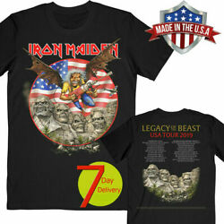 Iron Maiden Legacy of the Beast 2019 Tour USA T-shirt Black Size S-6XL HOT