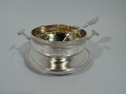 Sauce Bowl Stand - 1702 - Early Gravy Boat  American Sterling Silver