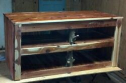 Rustic Eastern Red Cedar Tv Stand Entertainment Center. Made To Order