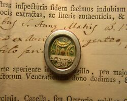 Shrine Relic Reliquary S.anne Mother Blessed Virgin Mary✔+document 1777 ✔️